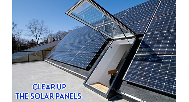 Clear up The Solar Panels