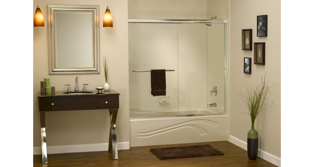 Go For the Shower Curtains Over the Custom Glass Shower Doors